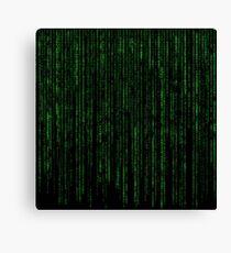 Matrix Code Pattern Canvas Print