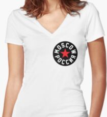 Moscow POCCNR Women's Fitted V-Neck T-Shirt
