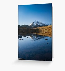 Crib Goch reflected in Llyn Cwmffynnon Greeting Card