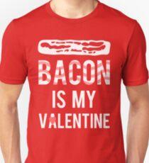 XOXO Bacon is my Valentine Unisex T-Shirt