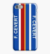 Francois Cevert Helmet Design iPhone Case/Skin
