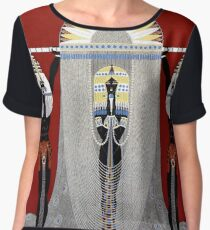 "Erte's Stunning Art Deco Design ""The Egyptian"" Women's Chiffon Top"