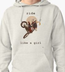 Ride Like a Girl Pullover Hoodie