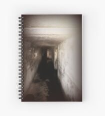 Battery Mishler corridor into the darkness Spiral Notebook