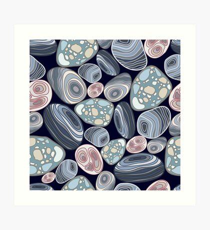 Pattern stones Art Print
