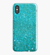 Bright Turquoise Glitter iPhone Case/Skin
