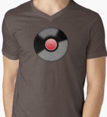Vinyl 3 Worn Well Resize (please see notes) Men's V-Neck T-Shirt