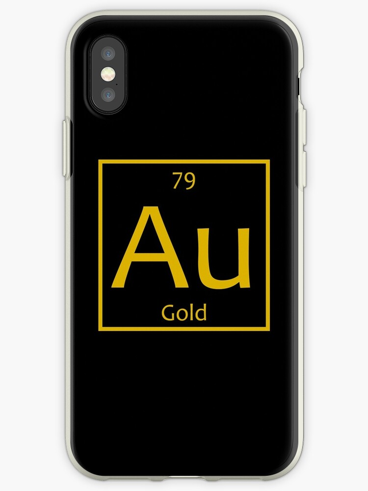 Gold Au Chemical Symbol Iphone Cases Covers By The Elements