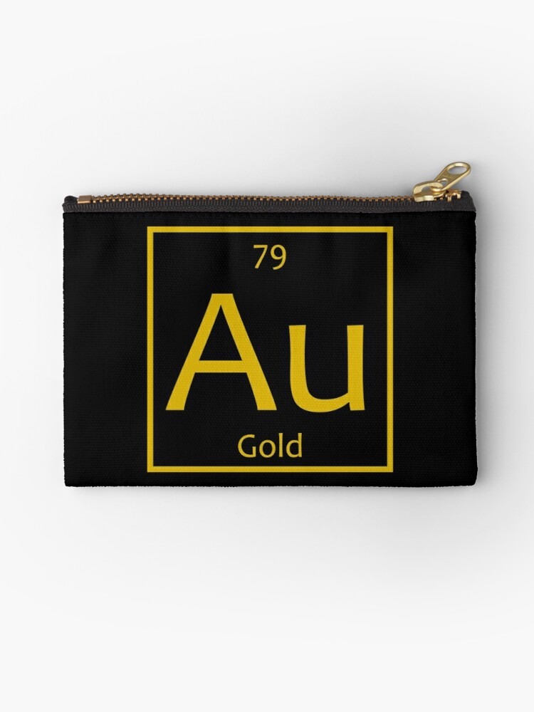 Gold Au Chemical Symbol Studio Pouches By The Elements Redbubble