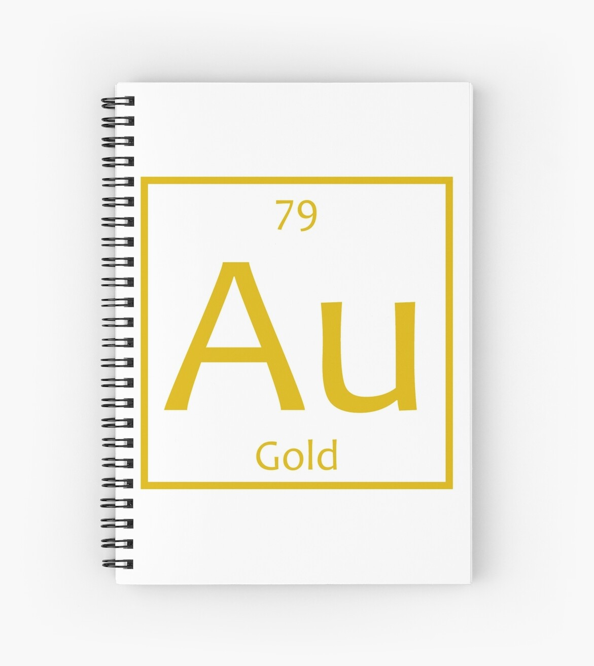 Gold Au Chemical Symbol Spiral Notebooks By The Elements Redbubble
