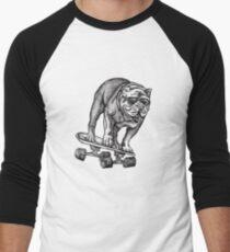 English Bulldog Skateboarding Men's Baseball ¾ T-Shirt