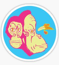Electric Banana Monkey Pattern Sticker