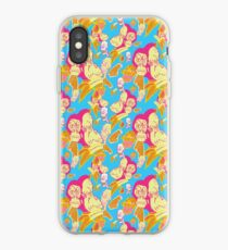 Electric Banana Monkey Pattern iPhone Case