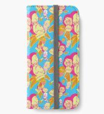 Electric Banana Monkey Pattern iPhone Wallet/Case/Skin