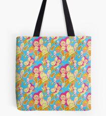Electric Banana Monkey Pattern Tote Bag