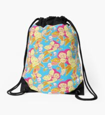 Electric Banana Monkey Pattern Drawstring Bag