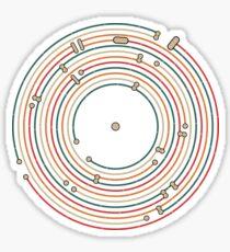 Vinyl music metro record map labyrinth  Sticker