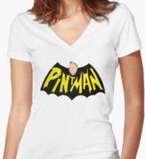 Nanananana PINTMAN!!! Women's Fitted V-Neck T-Shirt