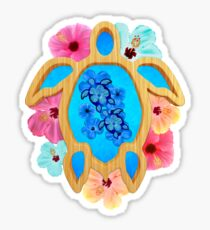 Hawaiian Blue Honu Sticker