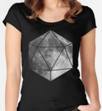 D20 - Moon Women's Fitted Scoop T-Shirt
