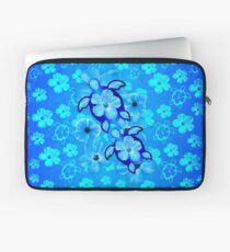 Blauer Hibiscus und Honu Turtles Laptoptasche