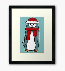Tall Winter Penguin Framed Print
