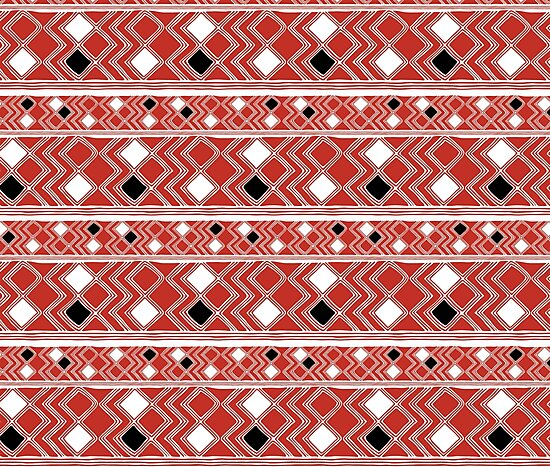 Yuchi Red Square by Chaparralia