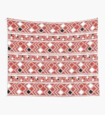 Yuchi Red Square Wall Tapestry