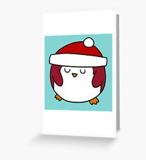 Fat Round Penguin Greeting Card