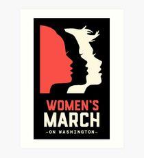 Official women's  march on washington  Art Print