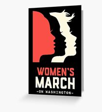 Official women's  march on washington  Greeting Card