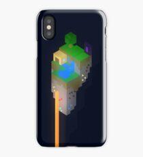 Minimalistic Minecraft Floating Island iPhone Case/Skin