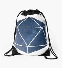 D20 - Blue Space Drawstring Bag