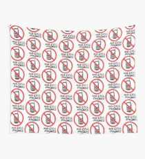 NO CELL PHONES Wall Tapestry