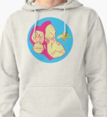 Electric Banana Monkey Pattern Pullover Hoodie