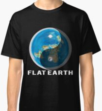 Flat Earth Yin and Yang  Classic T-Shirt