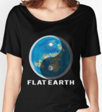 Flat Earth Yin and Yang  Women's Relaxed Fit T-Shirt