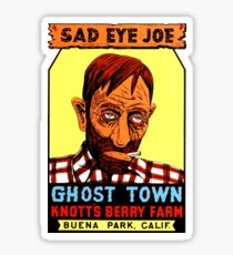 Sad Eye Joe Ghost Town California Vintage Travel Decal Sticker