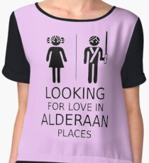 Looking for love in Alderaan places Women's Chiffon Top