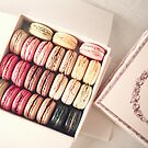 Sweet macarons in a box by Caroline Mint