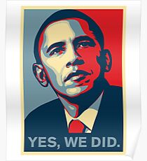Obama - Yes, We Did Poster
