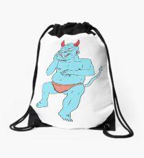 Blue Blue Monster Drawstring Bag