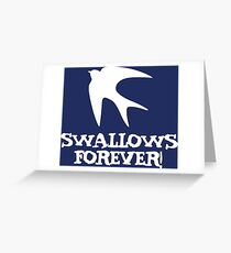 Swallows Forever logo Greeting Card
