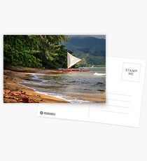 A sailboat In Hanalei Bay Postcards