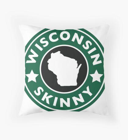 Wisconsin Skinny Caffeine Throw Pillow
