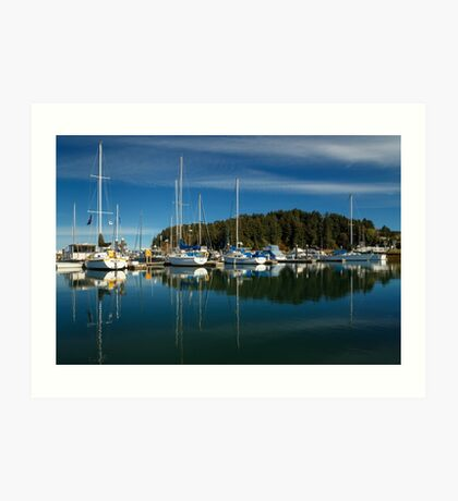 A Calm Day In Winchester Bay Art Print