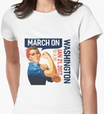 Womens march on washington 2017 Women's Fitted T-Shirt