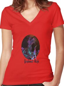 Greyhound Magic Women's Fitted V-Neck T-Shirt
