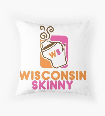 Wisconsin Skinny Mmmmm Throw Pillow