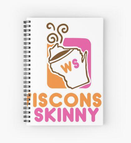 Wisconsin Skinny Mmmmm Spiral Notebook
